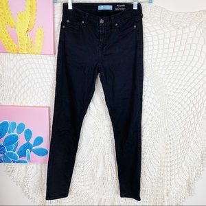 7 For all mankind black stretch ankle pants 25